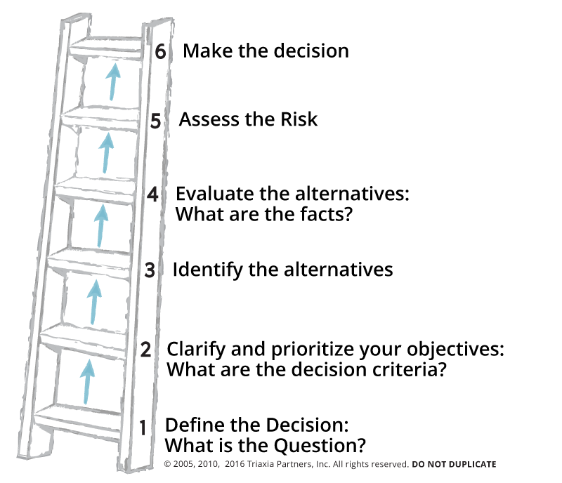 Triaxia's Six Steps to Wise Decision Making Model